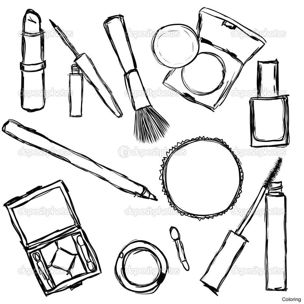 Makeup artist drawing at free for for Make coloring book pages from photos