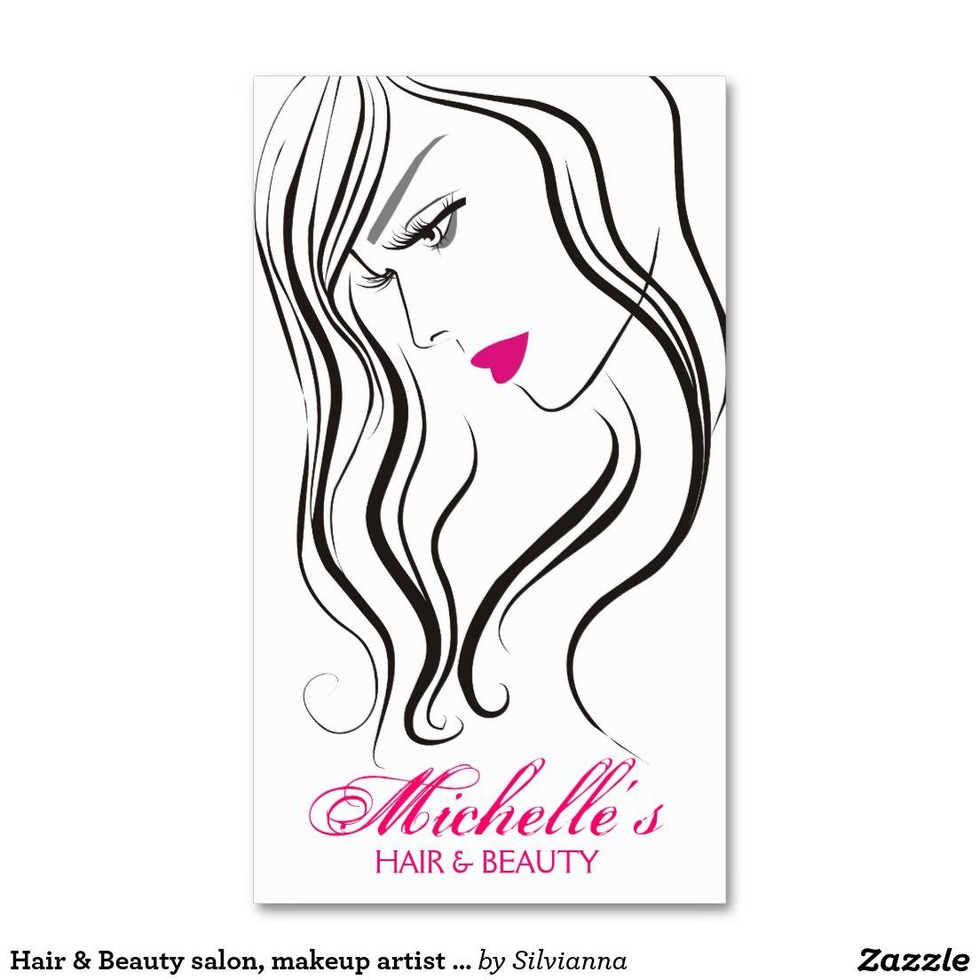 1104x1104 Hair Amp Beauty Salon, Makeup Artist Business Card Hair And Beauty
