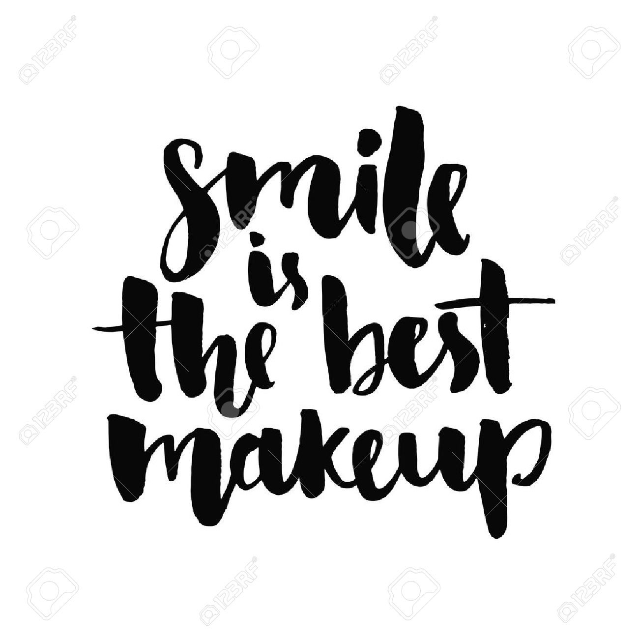 1300x1300 Smile Is The Best Makeup. Inspirational Quote Handwritten