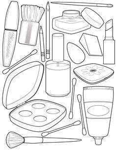 236x305 Hand Drawn Beauty Clip Art Set, Glam Clipart Set, Beauty Blogger