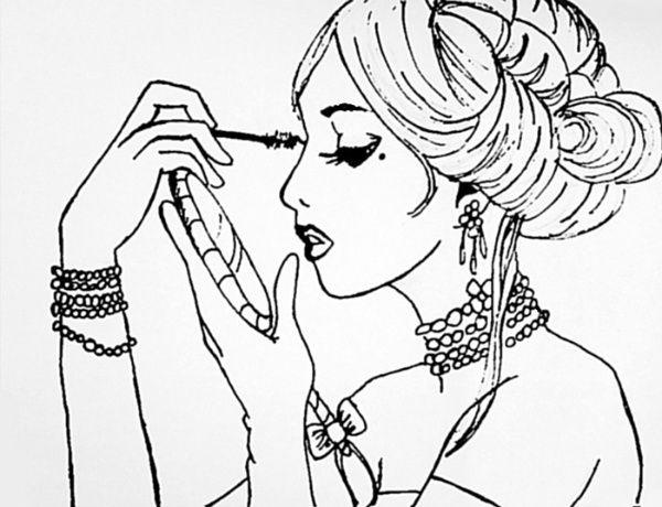600x460 Image Result For Makeup Drawing Art Makeup Drawing