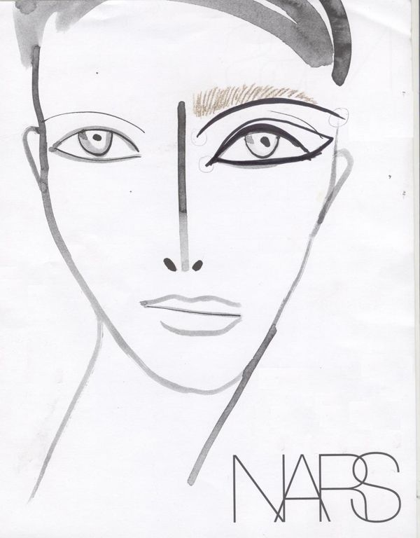 where to get blank makeup face charts