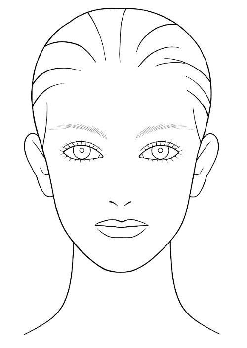 500x706 Shiseido Face Chart Makeup Face Charts Face Charts