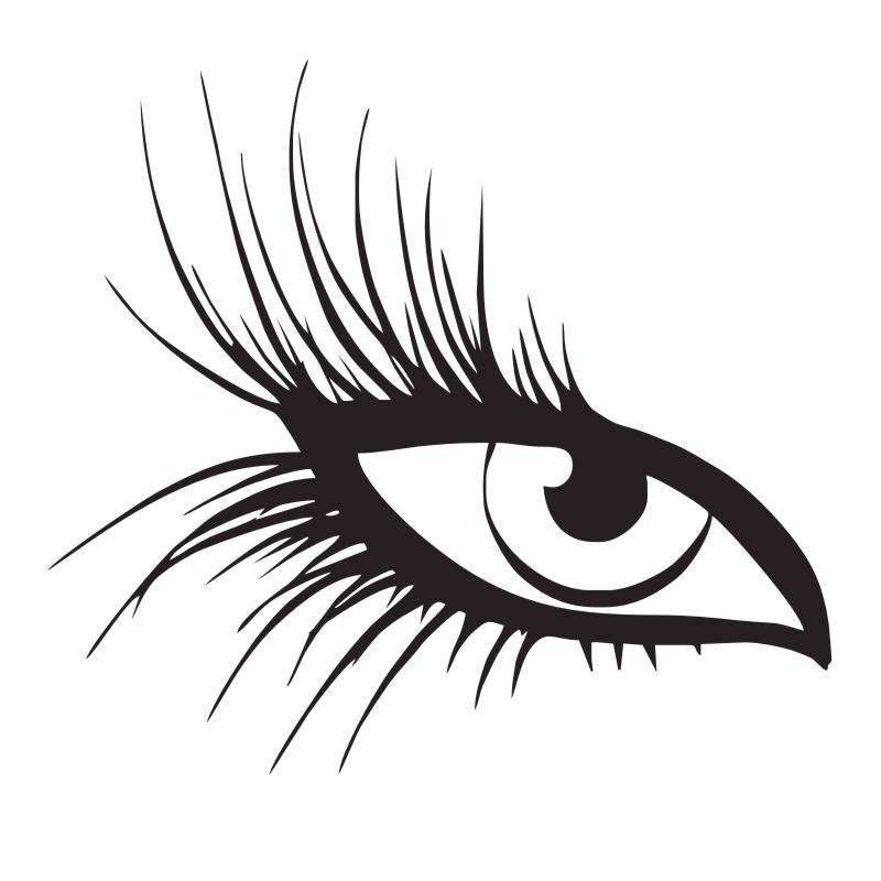 800x800 Hot Eye With Long Eyelashes Wall Decals Creative Home Decoration