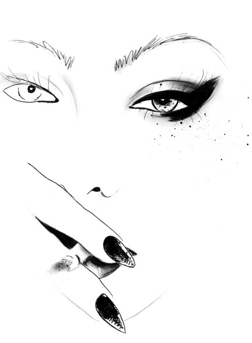 511x695 82 Best Sketches Images On Make Up Looks, Beauty