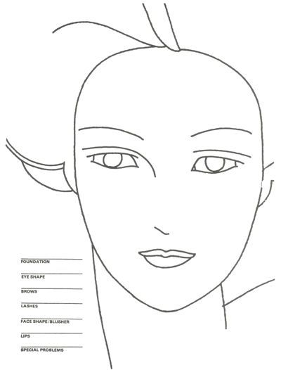 400x526 Great Makeup Home Party Games Face Charts, Party Games And Make Up