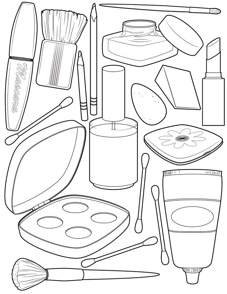 736x951 Makeup Coloring Sheets Makeup Face Coloring Sheets