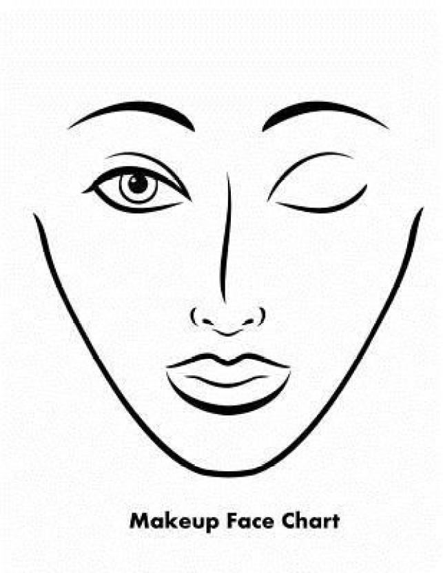 643x832 Makeup Face Chart