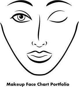 273x303 Makeup Face Chart Portfolio Sarie Smith 9781495247088