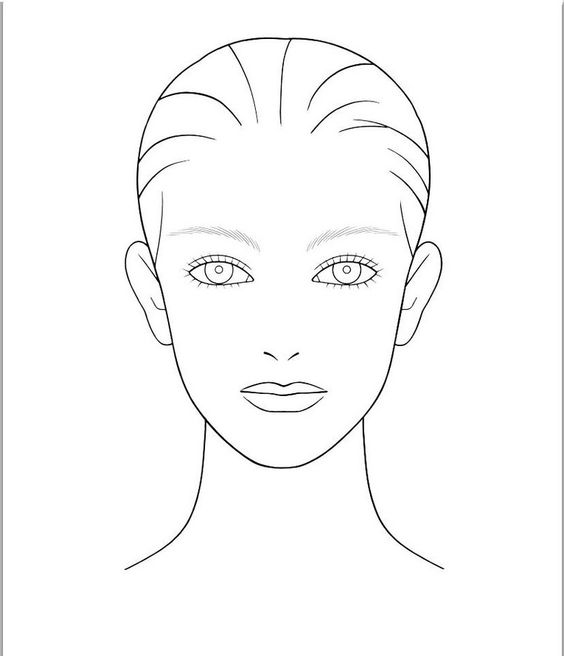 564x656 Blank Face Template With One Eye Closed For Makeup Ideas Bella
