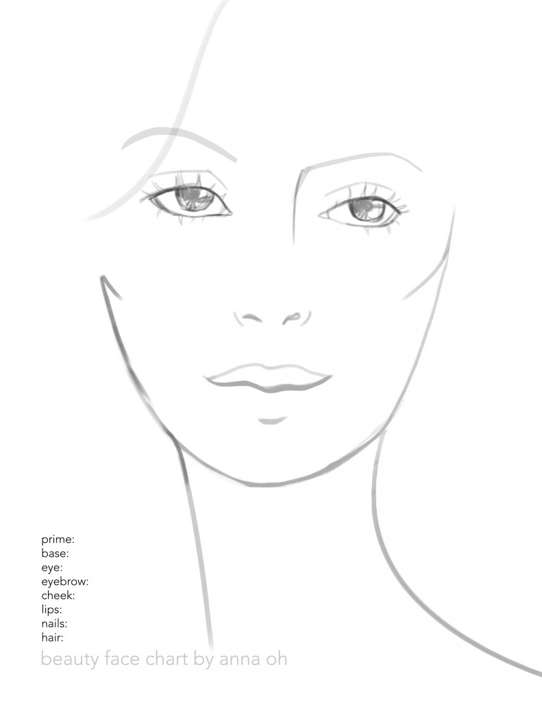 photograph relating to Printable Face called Make-up Experience Drawing at  Totally free for specific