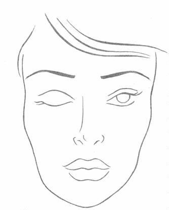 photo relating to Printable Face Charts identified as Make-up Confront Drawing at  Cost-free for person