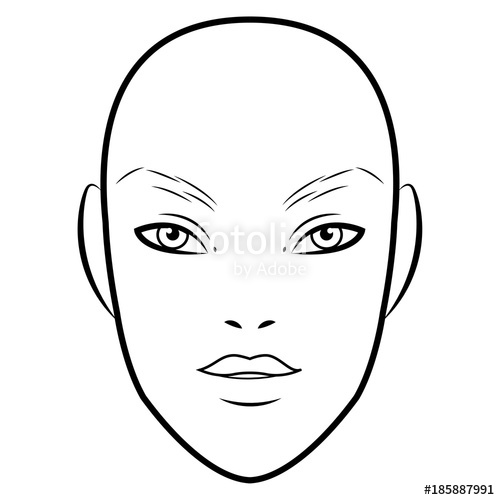 Makeup face drawing at getdrawings free for personal use 500x500 men face chart makeup artist blank template vector illustration maxwellsz