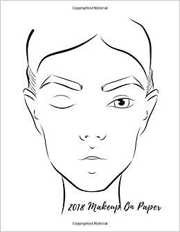 260x335 2018 Makeup On Paper Female Faces Large Notebook Quel S.j