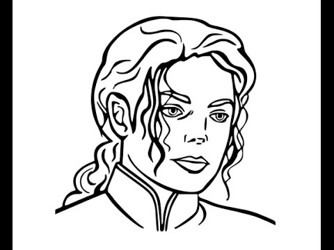 480x360 How To Draw Michael Jackson Face Sketch Drawing Step By Step