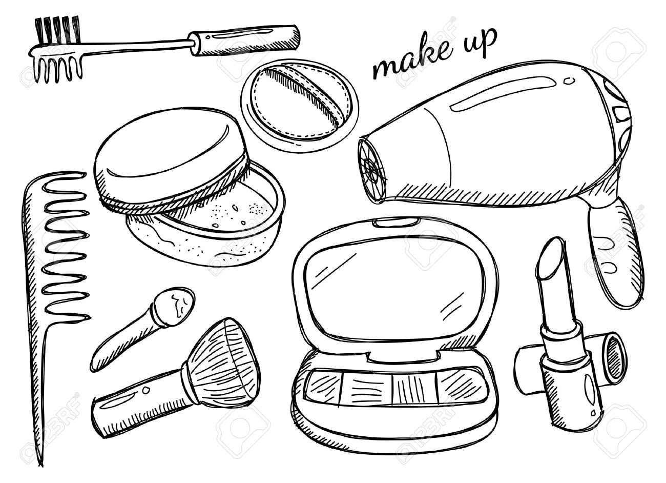 1300x942 Makeup Kit Royalty Free Cliparts, Vectors, And Stock Illustration