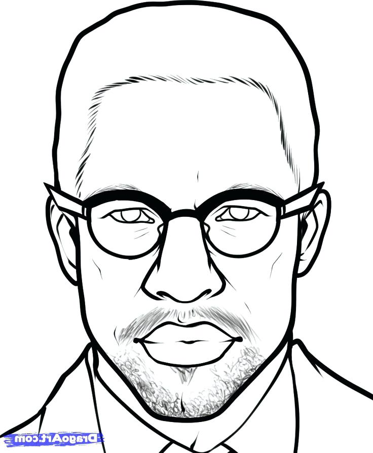 736x892 Malcolm X Coloring Pages X Coloring Pages Fun Ideas X Malcolm X