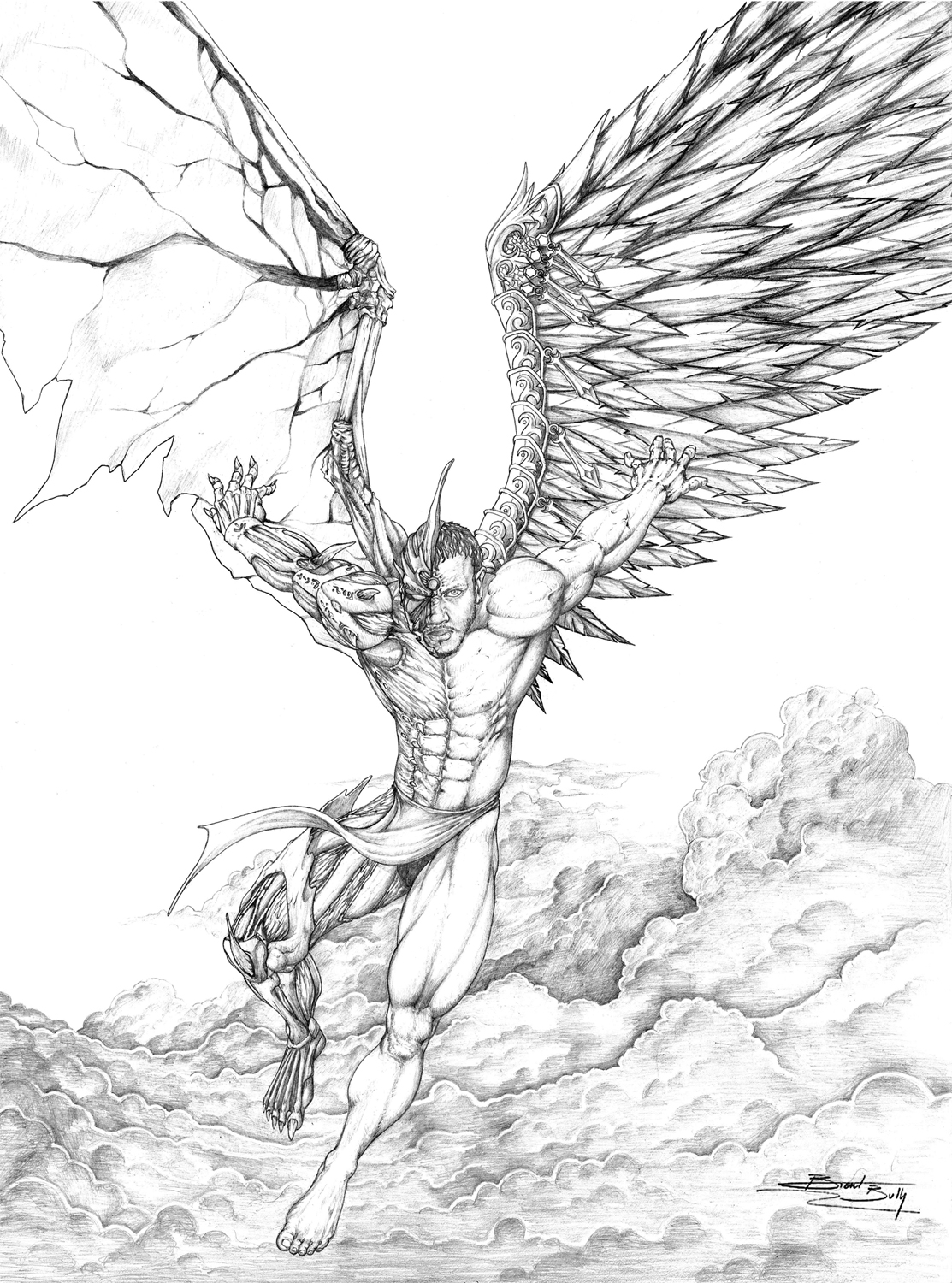 1113x1500 Dark Angel Drawings Arts Angel Drawing, Drawings