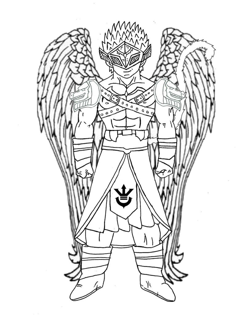 783x1020 Saiyan Angel [Male] (Sketch) By Rojoneo