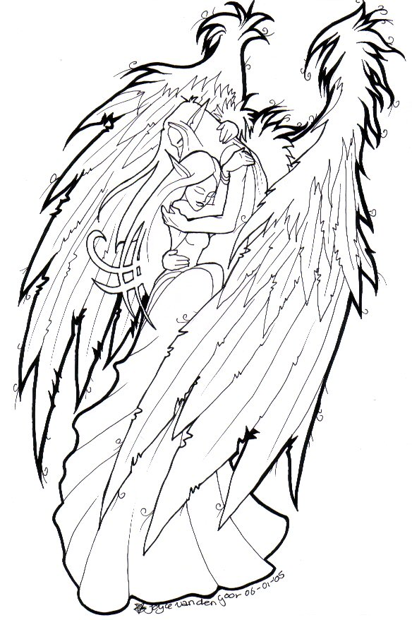 584x878 Angel Protecting Girl By Daisyamnell On Color Me