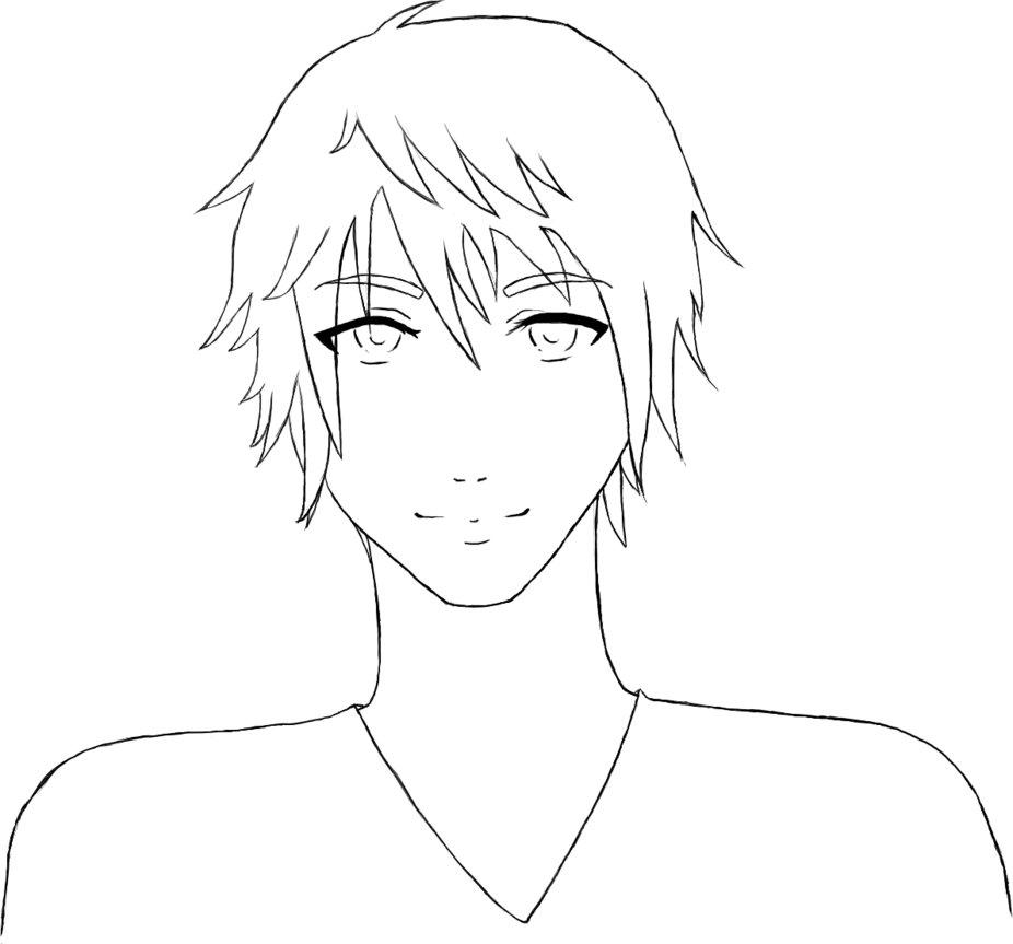 926x863 Lineart Anime Male By Sakura Drawings