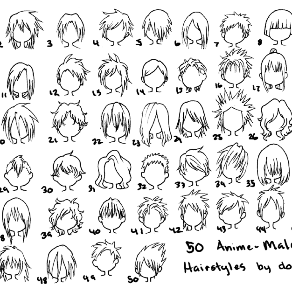 Male Anime Hairstyles Drawing At GetDrawings