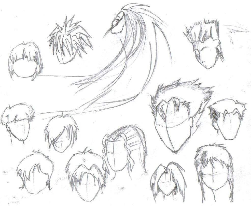 Male Anime Hairstyles Drawing At GetDrawings.com