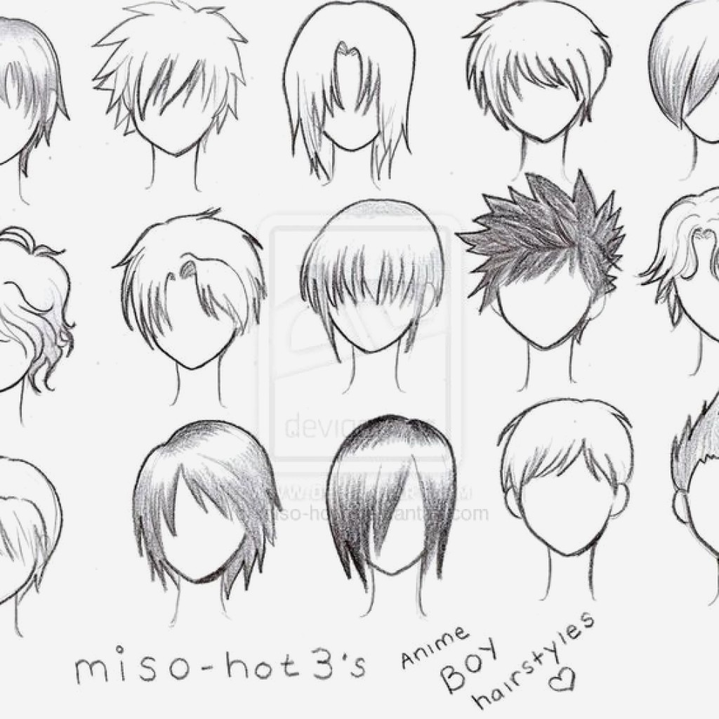 Male Anime Hairstyles Drawing At Getdrawings Com Free For Personal