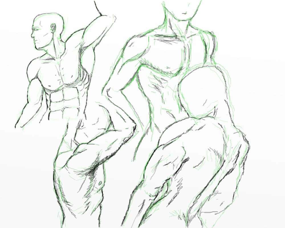 1000x800 Male Upper Body Drawing Tutorial By Michaelpinocchio