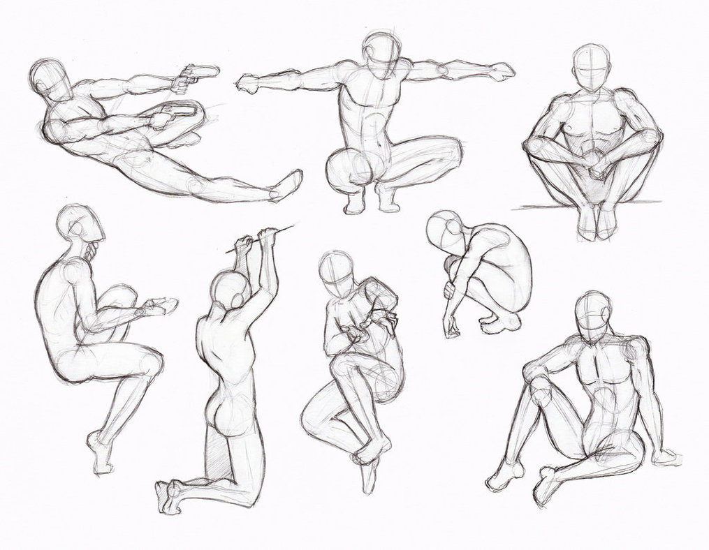 1015x788 Copy's And Studies Kate Fox Male Body's Part 2 By Hirvios