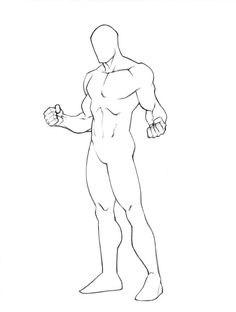 Male Body Outline Drawing
