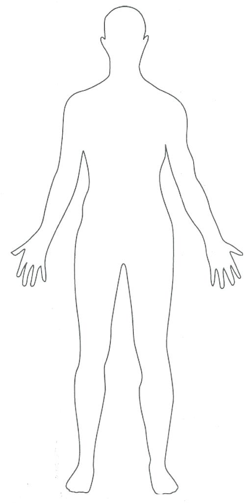 512x1024 Body Outline Coloring Page Human Body Coloring Pages For Kids Kid