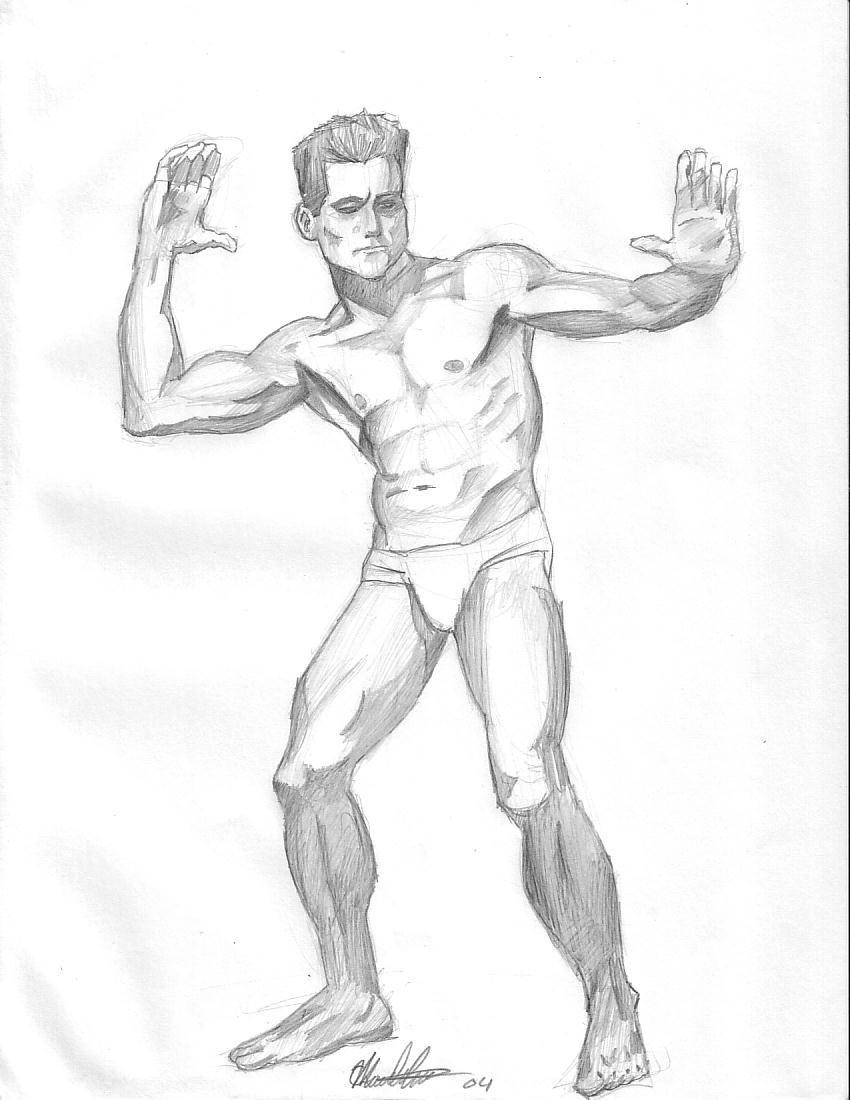 850x1100 Male Figure Drawing 1 By Caspey