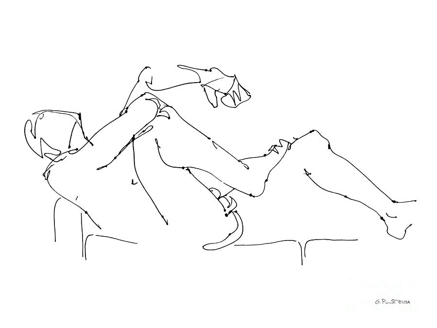 900x675 Naked Male Drawings 13 Drawing By Gordon Punt