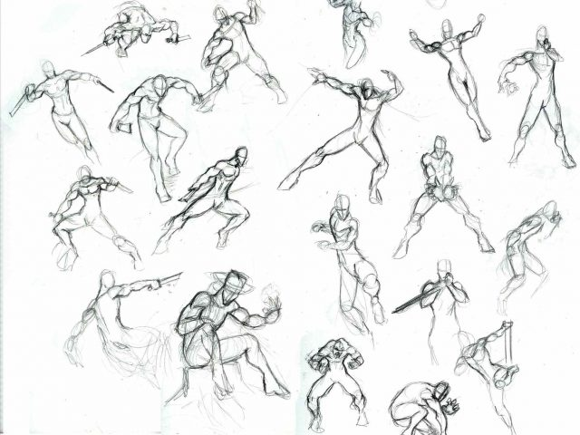 640x480 Drawing Easy Face And Of Sketch Easy Anime Character Body Sketches