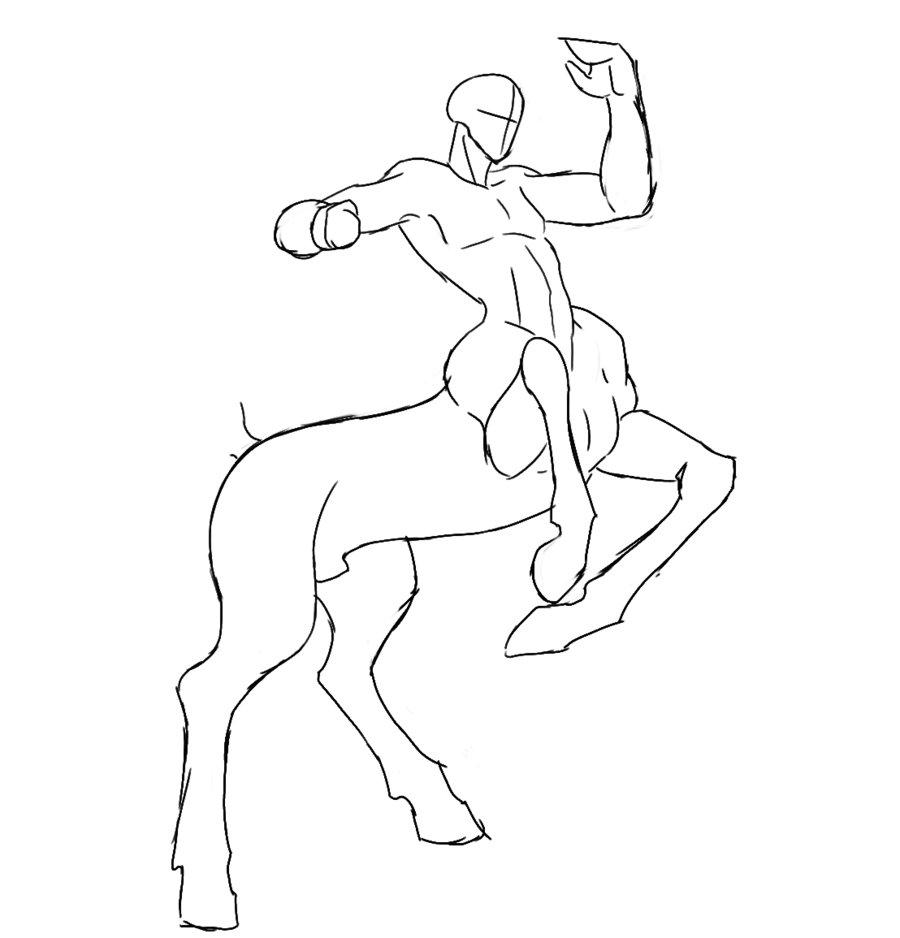 900x938 How To Draw A Centaur Drawing Tips Centaur