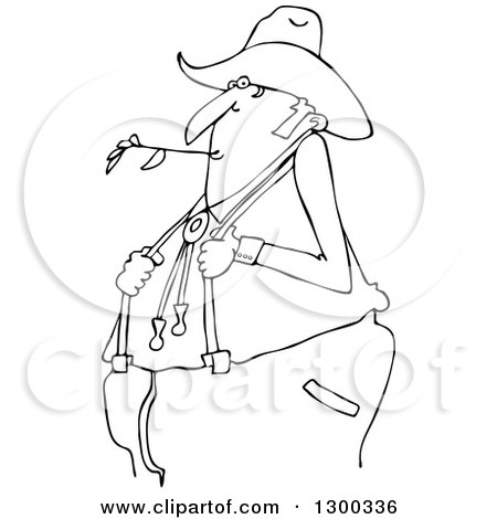 450x470 Outline Clipart Of A Black And White Cartoon Chubby Male Farmer