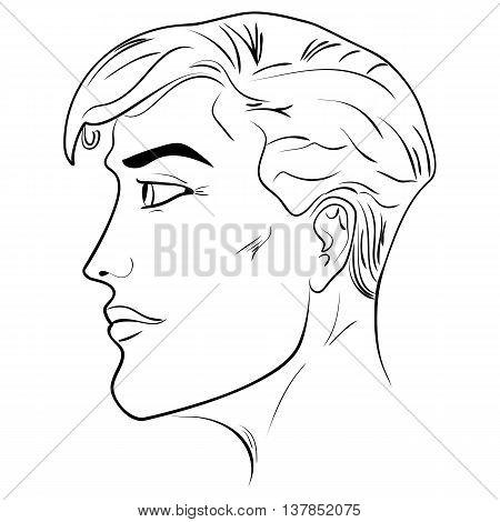 450x470 Outline Side Profile Human Male Vector Amp Photo Bigstock