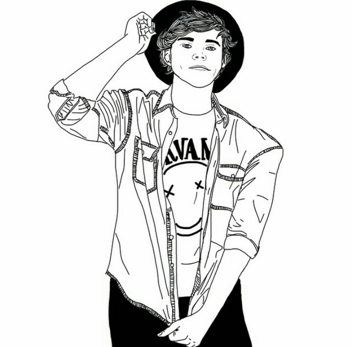720x709 Tumblr Boy Outline Nope Just Ashton [Draw]