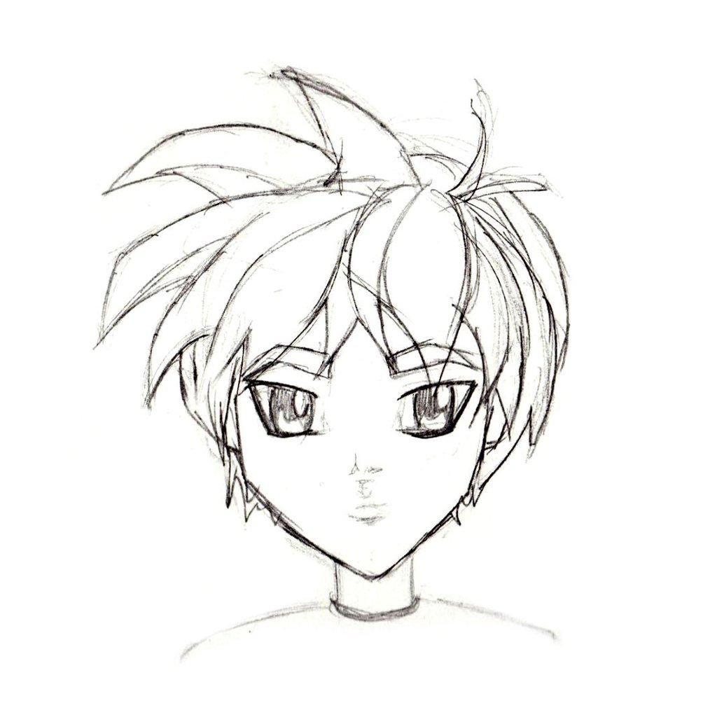 1024x1024 Manga Character Sketch Male I