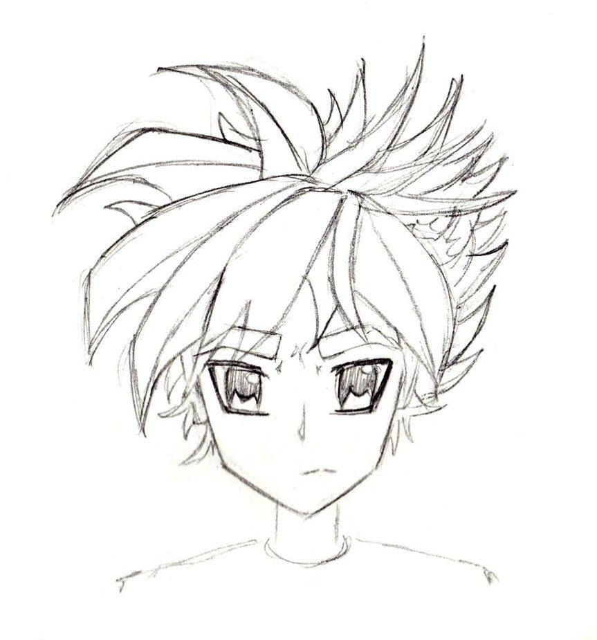 863x925 Manga Character Sketch Male I