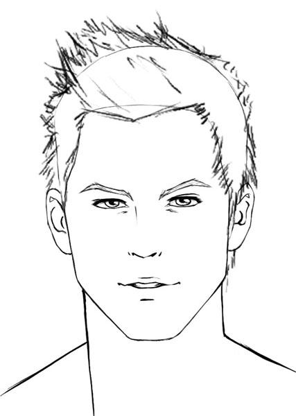 427x600 Drawn Photos Men's Face