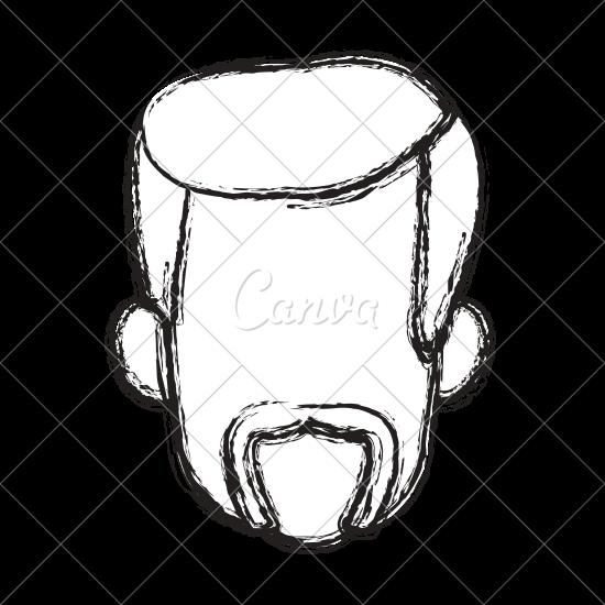 550x550 Male Face Profile Icon