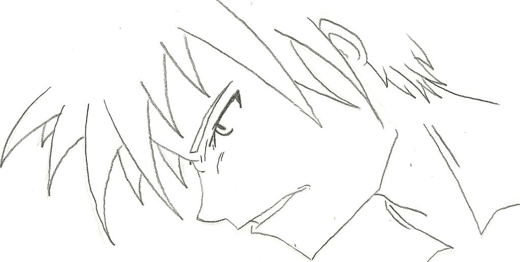 1024x517 Male Face Profile (Manga) By Draversx