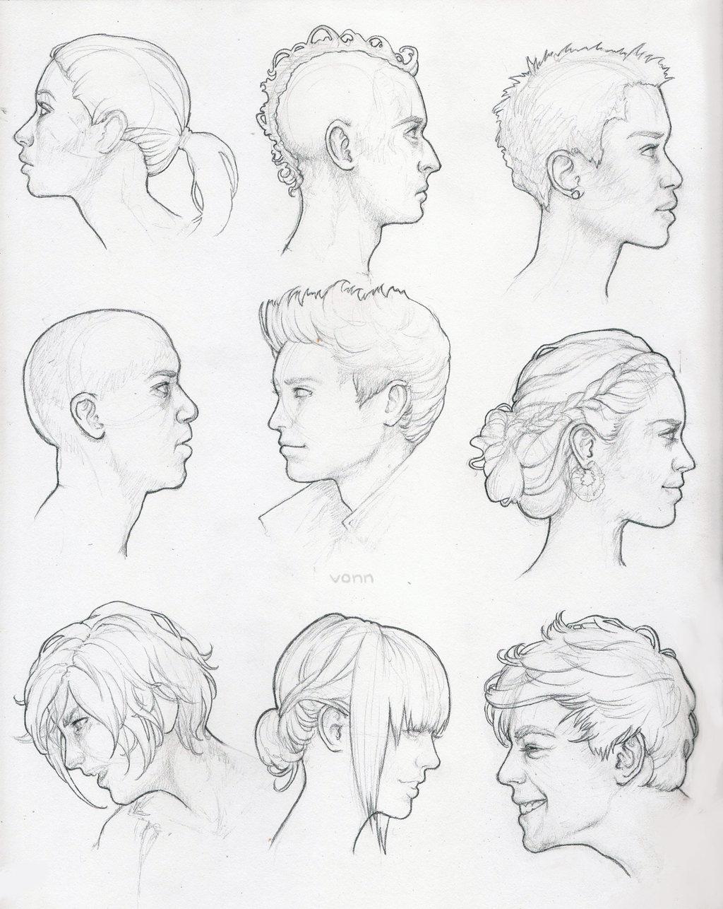1024x1286 Profile Study Sketches By Tvonn9