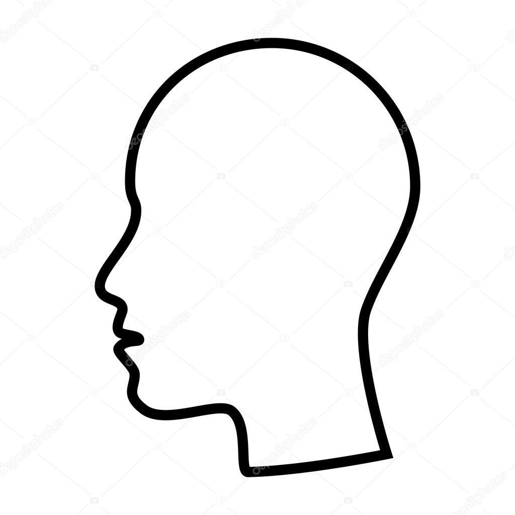 1024x1024 Profile Man Head Side Face Stock Vector Yupiramos