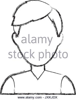 300x393 Profile Man Male Cartoon Faceless Image Stock Vector Art