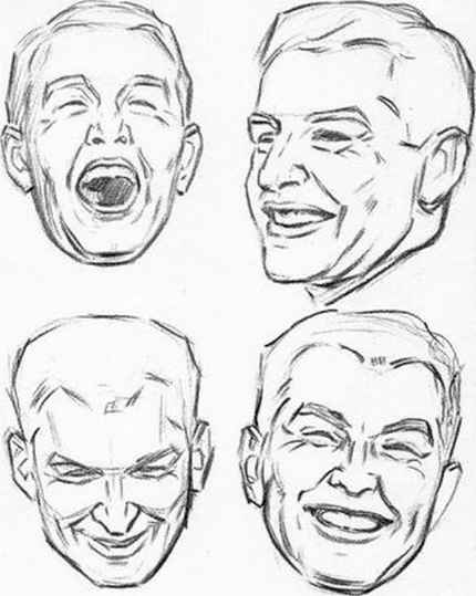 Male Faces Drawing