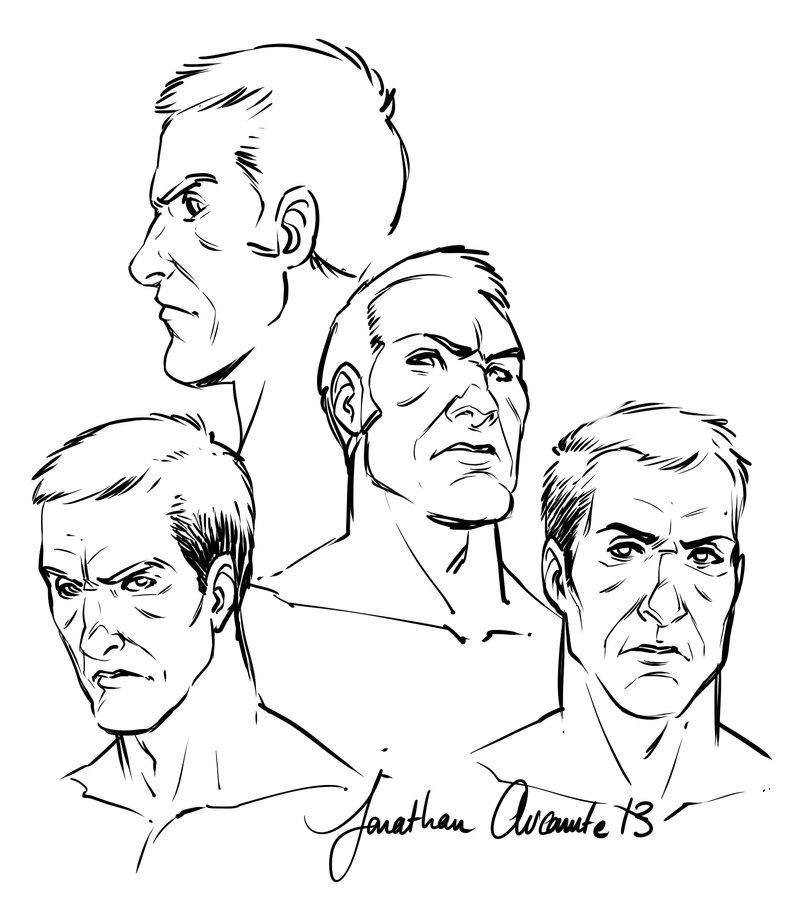 800x906 Male Faces By Tonton Jojo
