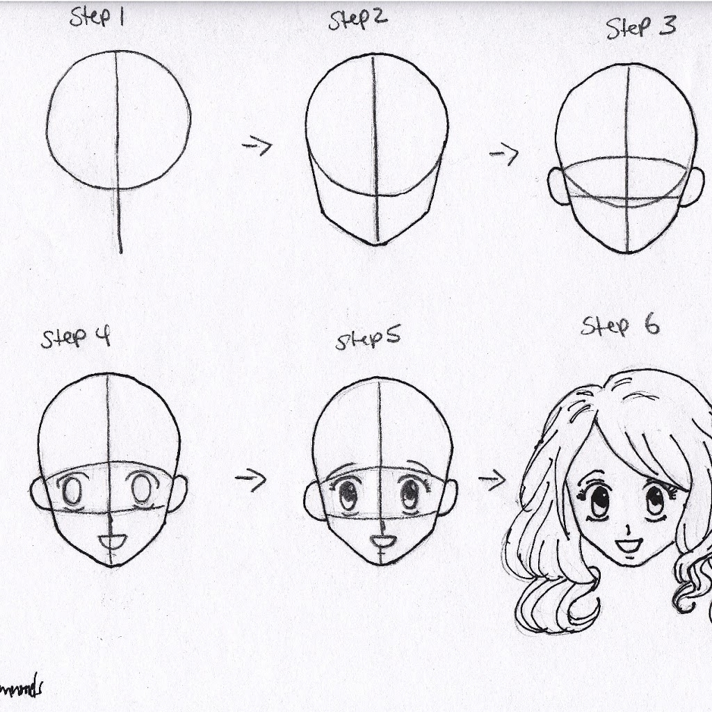 1024x1024 Pencil Drawings For Beginners Step By Step Anime Drawings